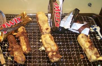 Deep Fried Chocolate Bars